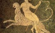 Pella, casa di Dioniso, mosaico con Dioniso su pantera (https://studiahumanitatispaideia.wordpress.com)
